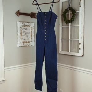 Free People Denim Jumpsuit/ Overalls NWOT